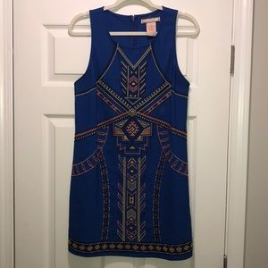 Flying Tomato Royal Blue Stitched Dress